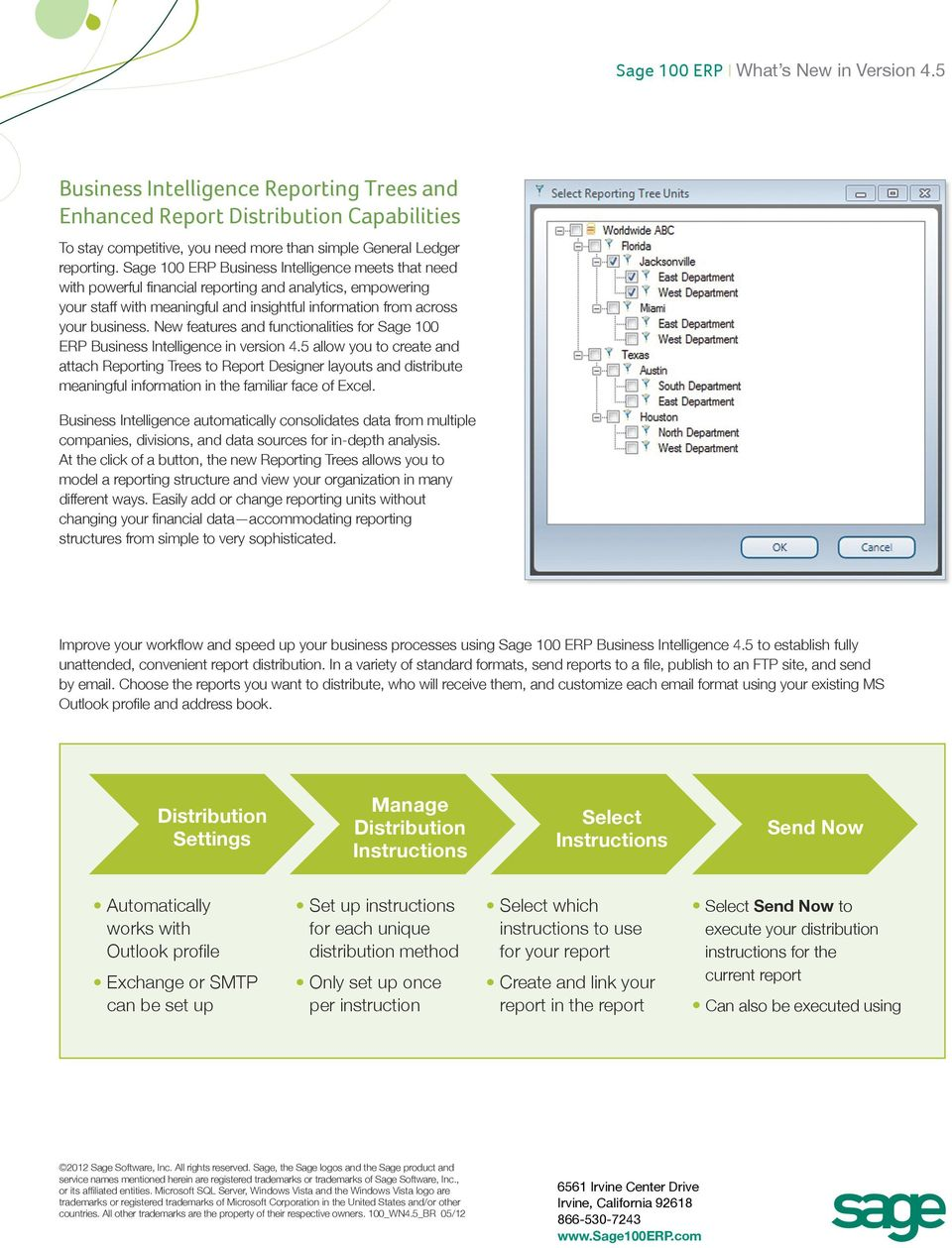 New features and functionalities for Sage 100 ERP Business Intelligence in version 4.