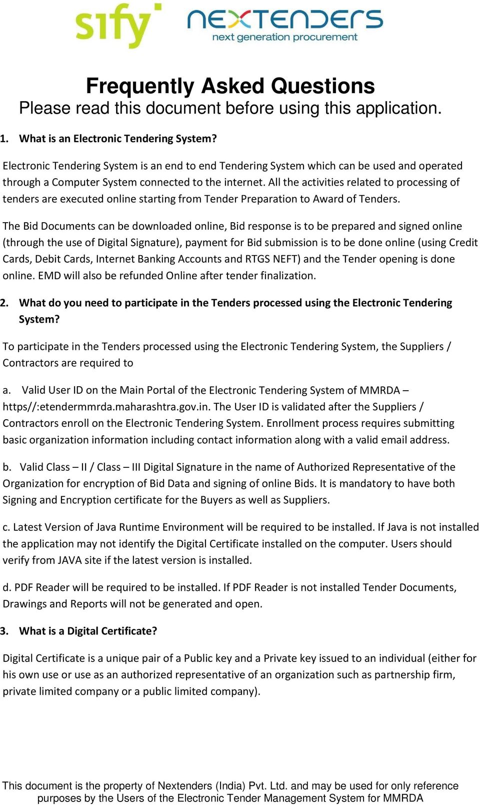 Frequently Asked Questions Please Read This Document Before Using