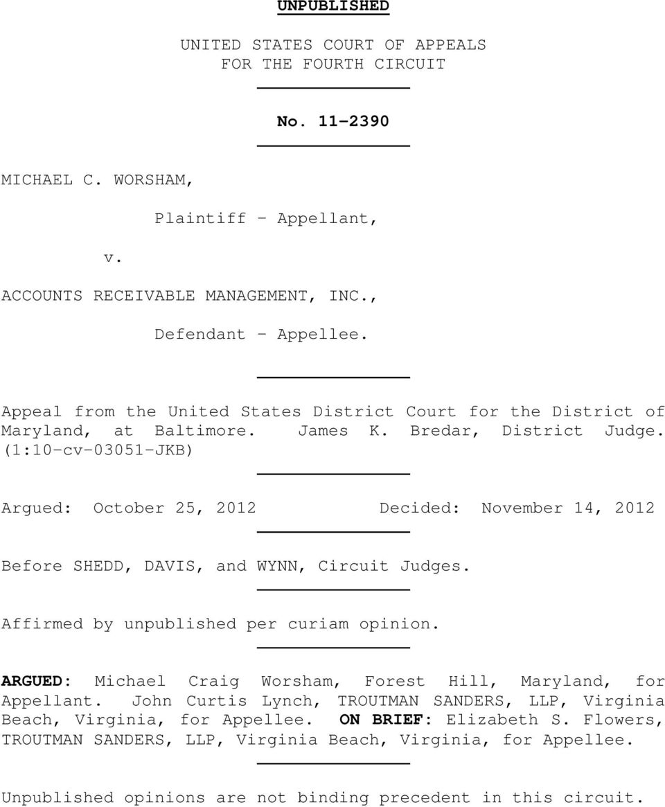 Unpublished United States Court Of Appeals For The Fourth Circuit No Virginia Is A State Appellate 110 Cv 03051 Jkb Argued October 25