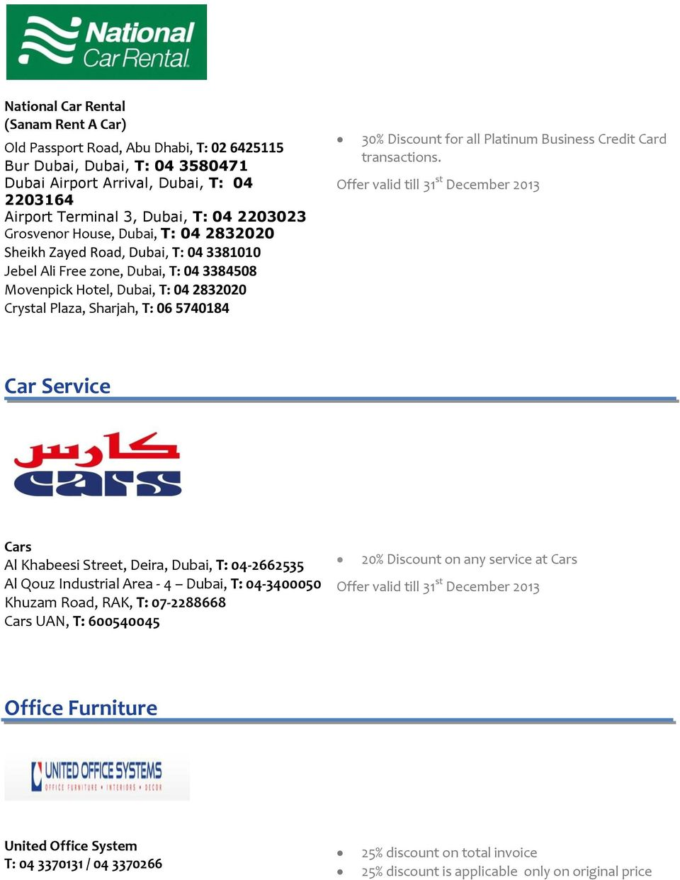 Offer valid till 15 th april pdf discount for all platinum business credit card transactions reheart Choice Image