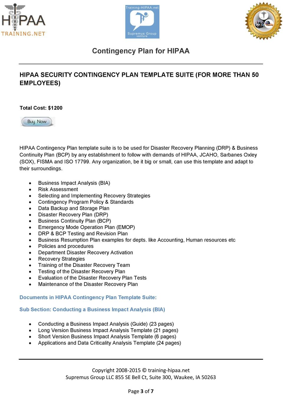 Contingency Plan For Hipaa Pdf Free Download