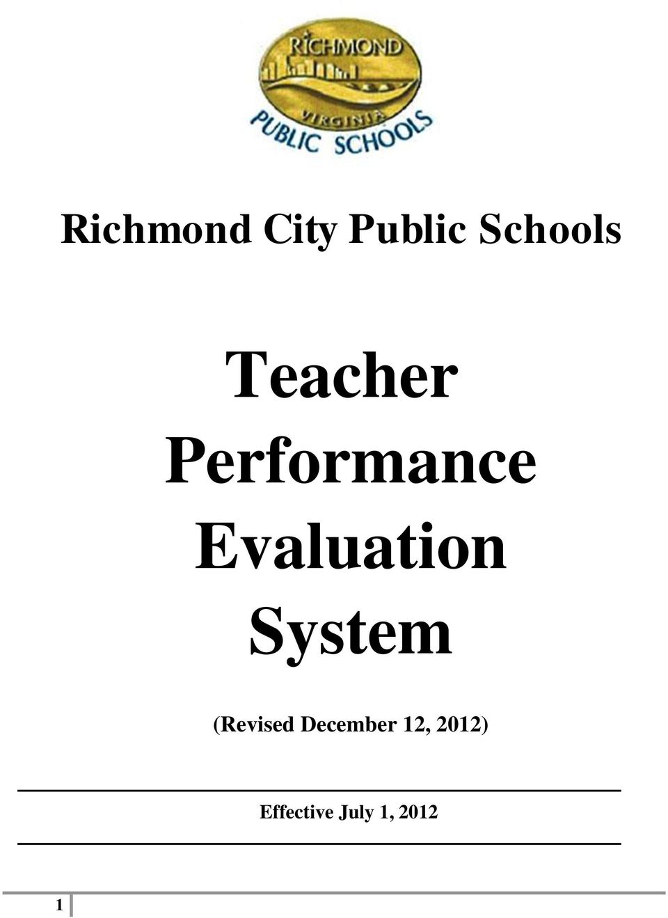 Evaluation System (Revised