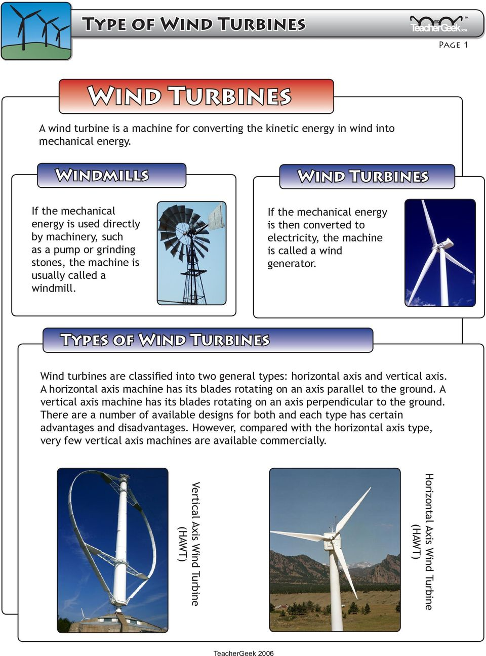 A wind turbine is a machine for converting the kinetic