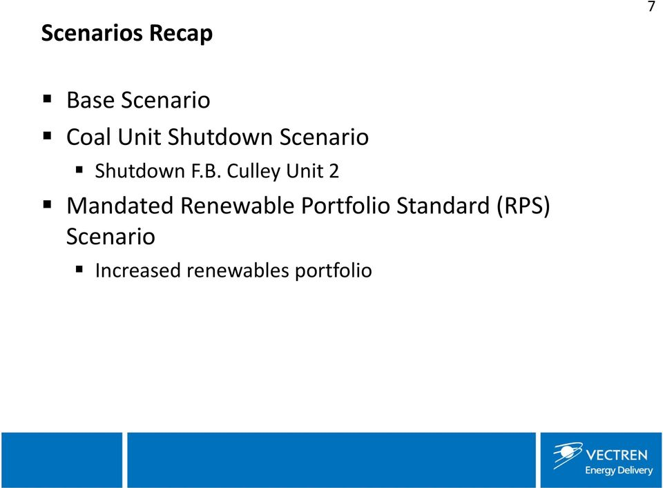 Culley Unit 2 Mandated Renewable Portfolio