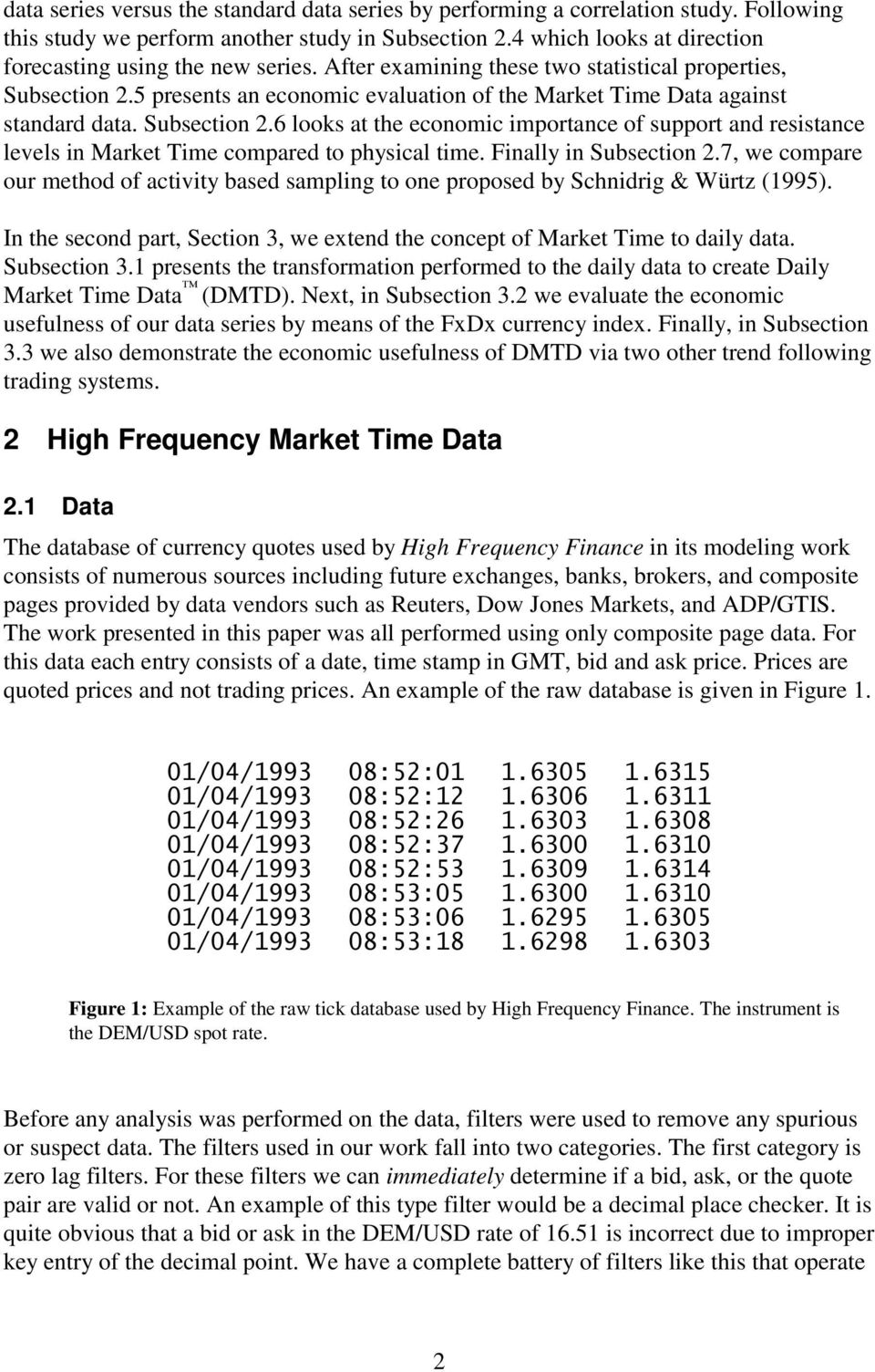 Market Time Data Improving Technical Analysis and Technical Trading