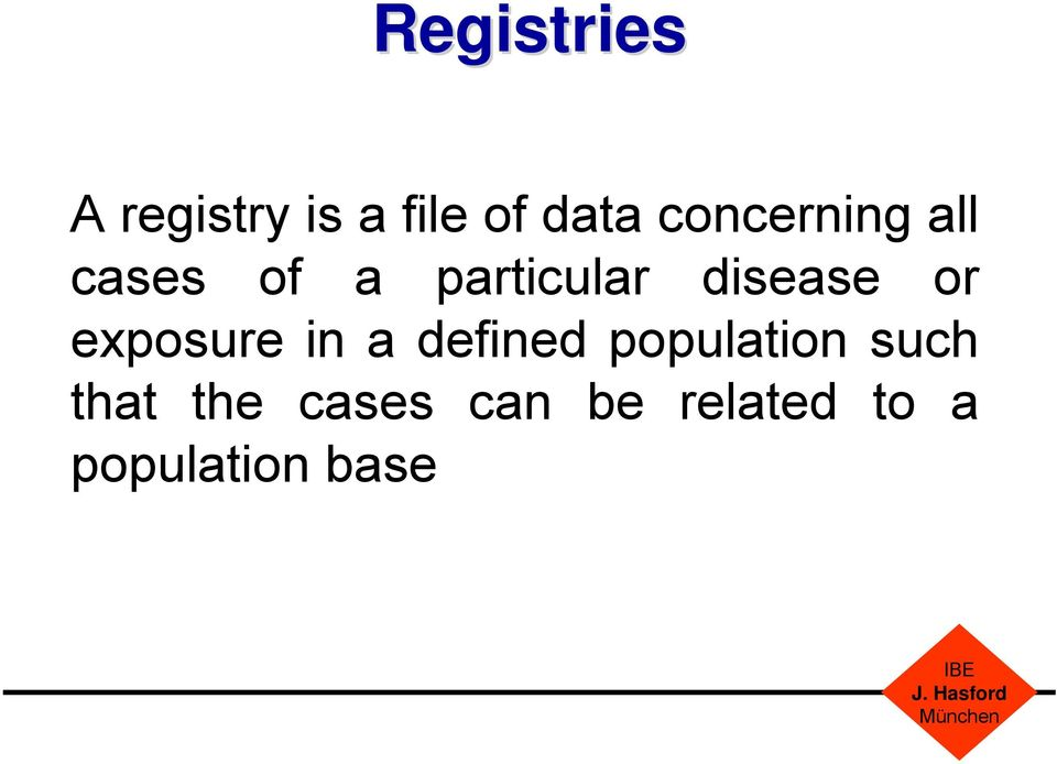 disease or exposure in a defined population