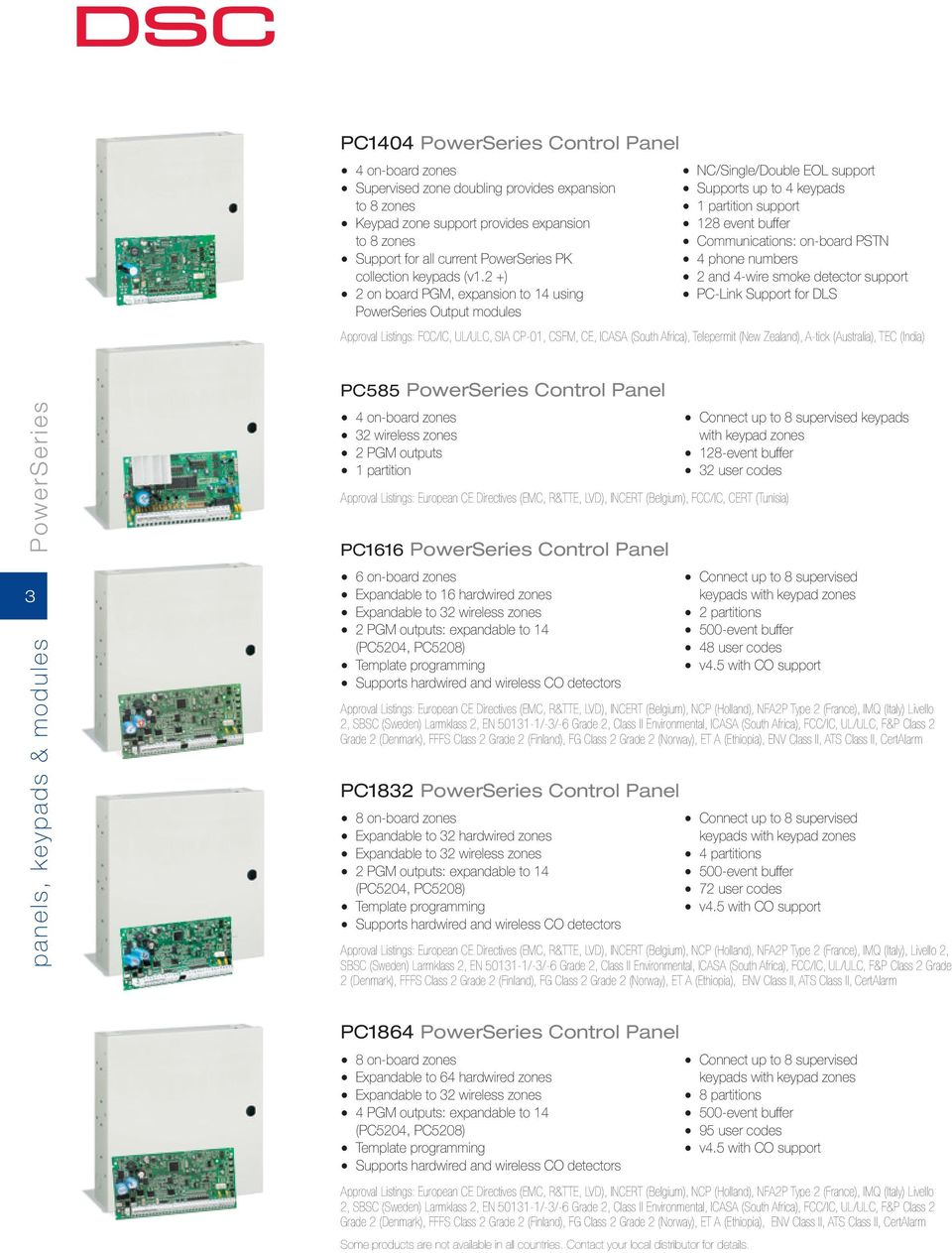 From Tyco Security Products Product Catalog Europe Middle East Dsc Diagram 4 Wire Smoke 2 And Detector Support On Board Pgm