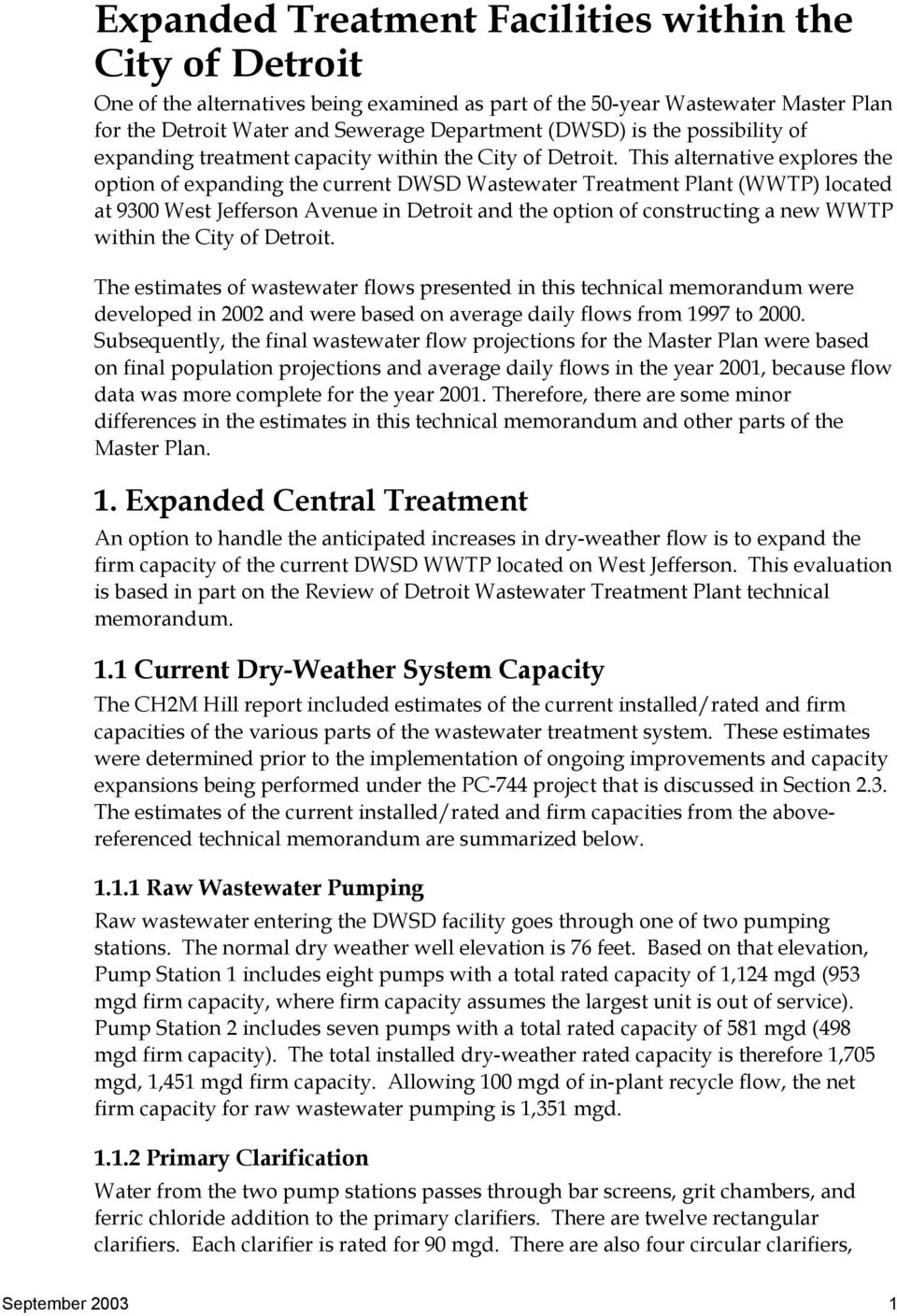 Expanded treatment facilities within the city of detroit pdf this alternative explores the option of expanding the current dwsd wastewater treatment plant wwtp publicscrutiny Image collections