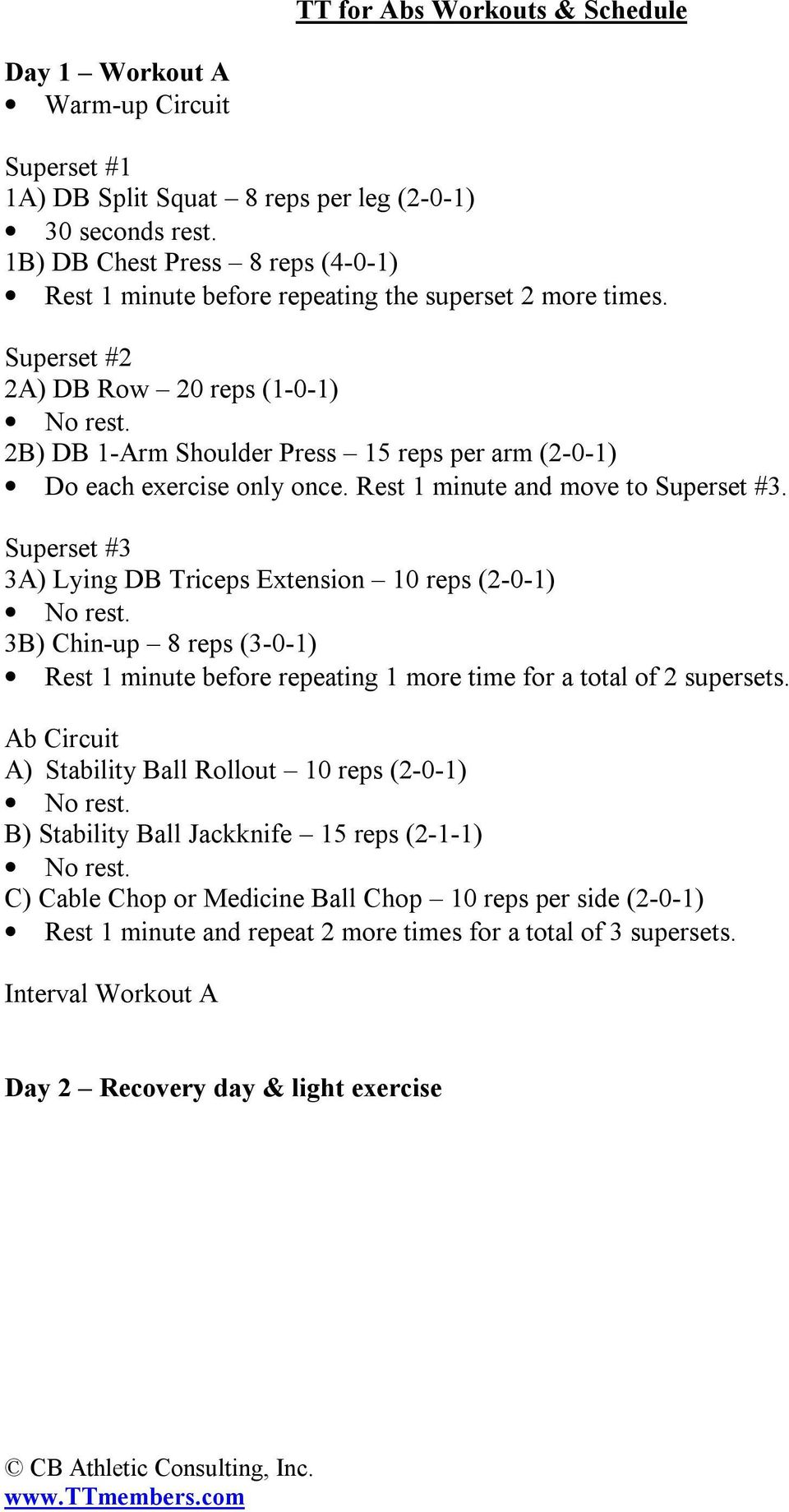 Cb Athletic Consulting Inc Pdf Supersets More Circuit Workouts Cardio Workout Gym