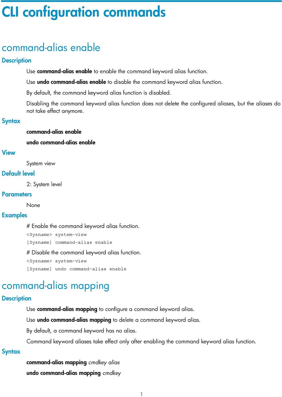 HP A-MSR Router Series Fundamentals  Command Reference  Abstract - PDF