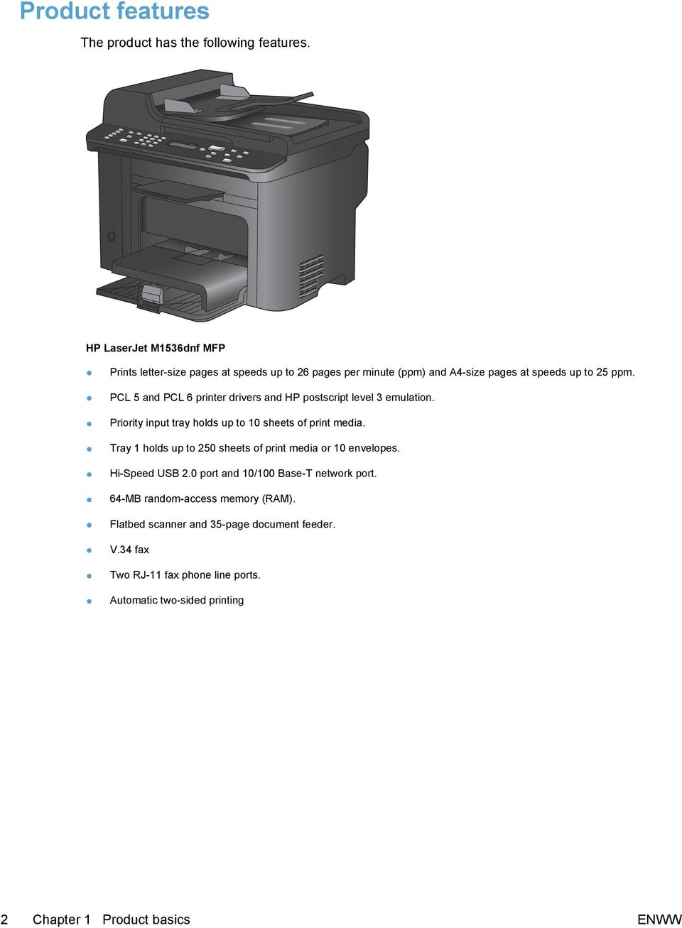 LASERJET PRO M1530 MFP SERIES  User Guide - PDF
