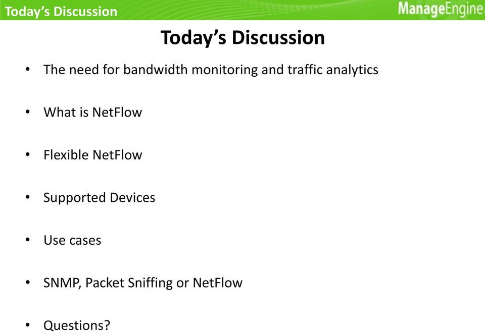What is NetFlow Flexible NetFlow Supported