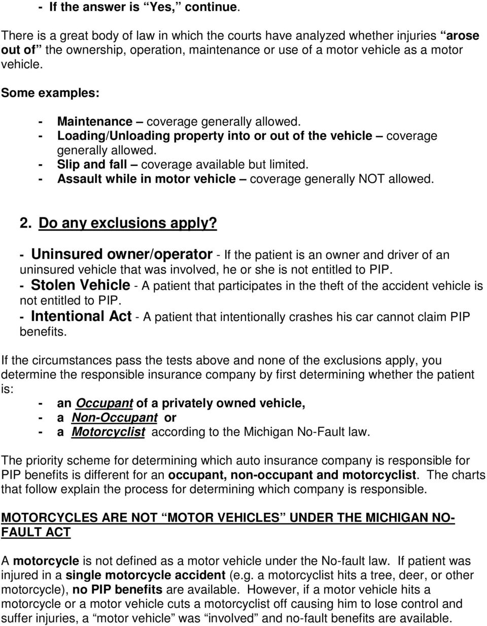 michigan no fault law essential knowledge for hospital and medical
