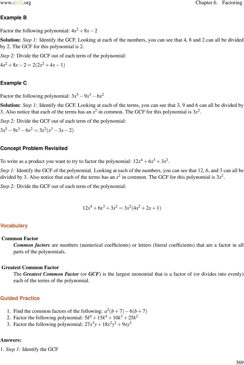 Veterans upward bound algebra i concepts honors pdf step 2 divide the gcf out of each term of the polynomial 4x 2 ibookread ePUb