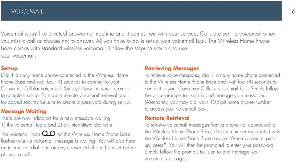 Wireless Home Phone Base A Guide To Your Service And Device Pdf