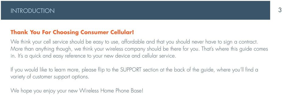Wireless Home Phone Base  A Guide to Your Service and Device