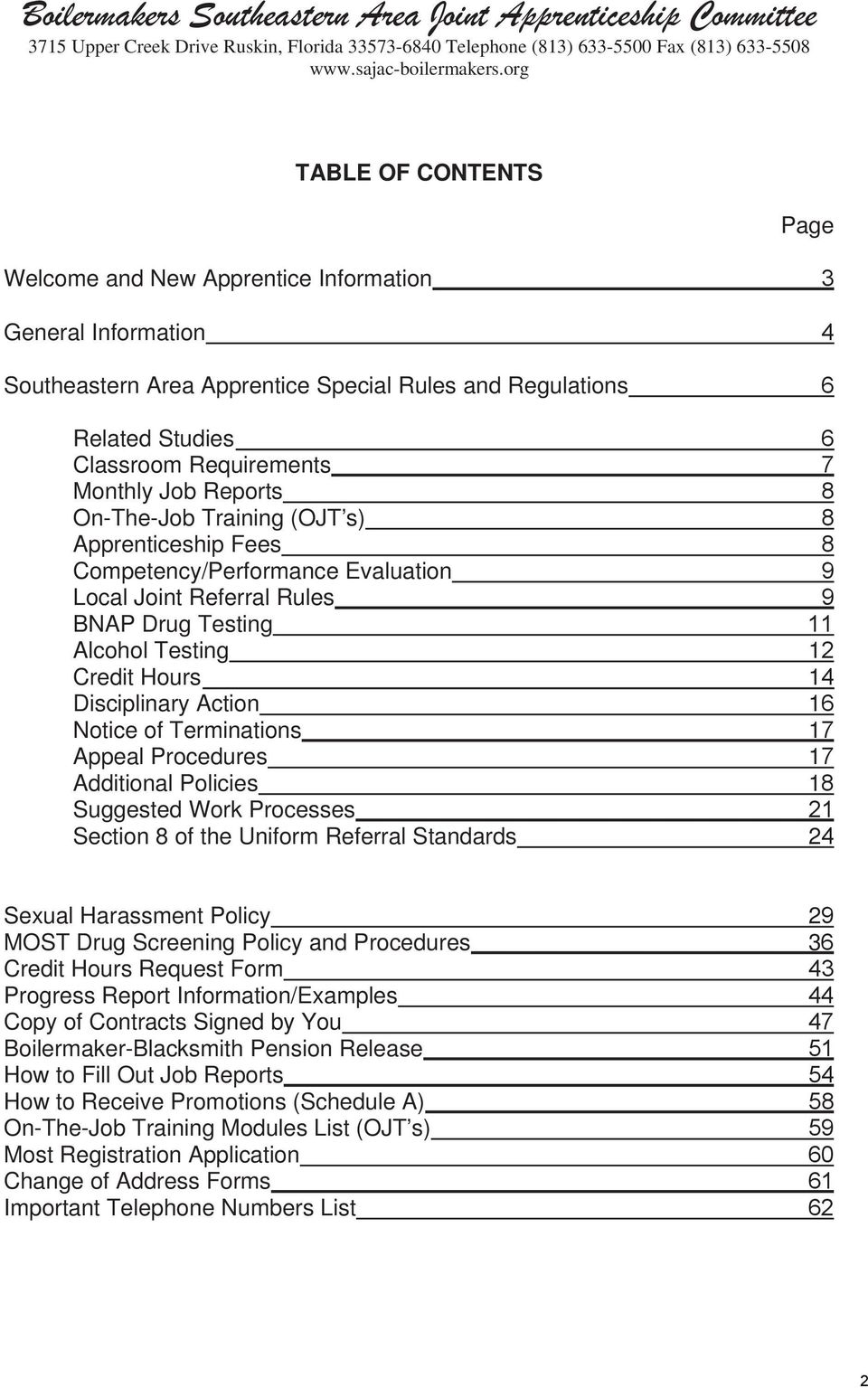 APPRENTICE INFORMATION AND RULES BOOK PDF Free Download