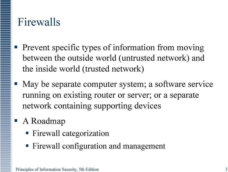 Firewalls And Vpns Principles Of Information Security 5th Edition