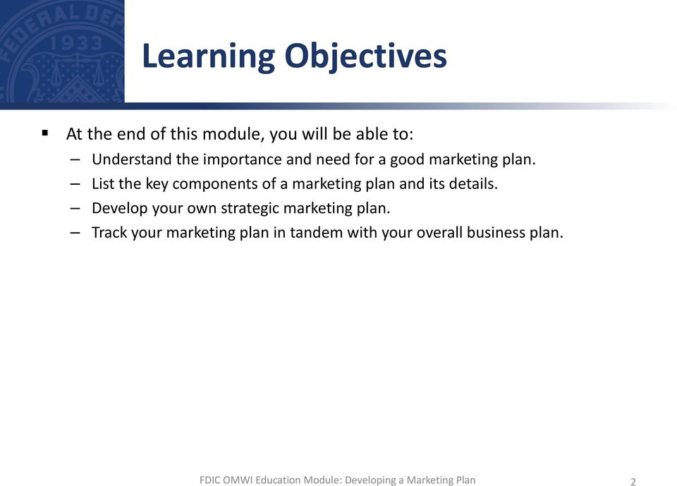 List the key components of a marketing plan and its details.