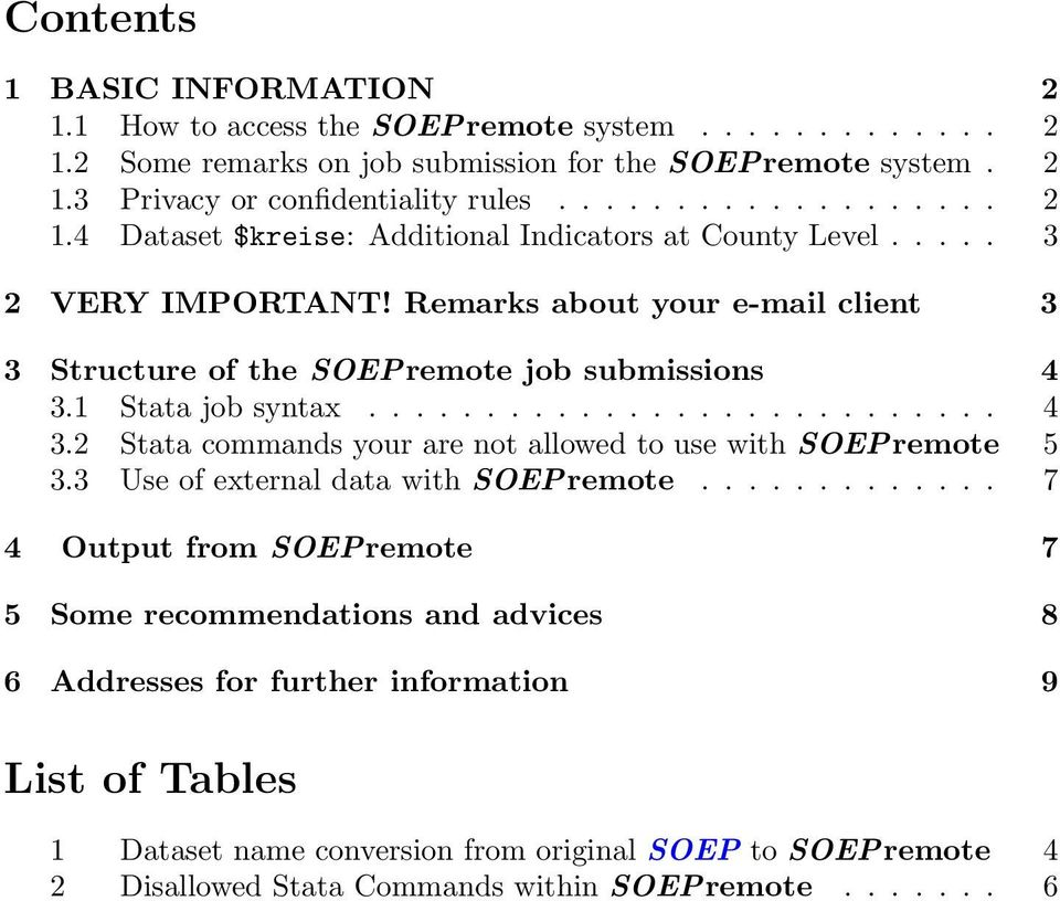 3 Use of external data with SOEPremote.
