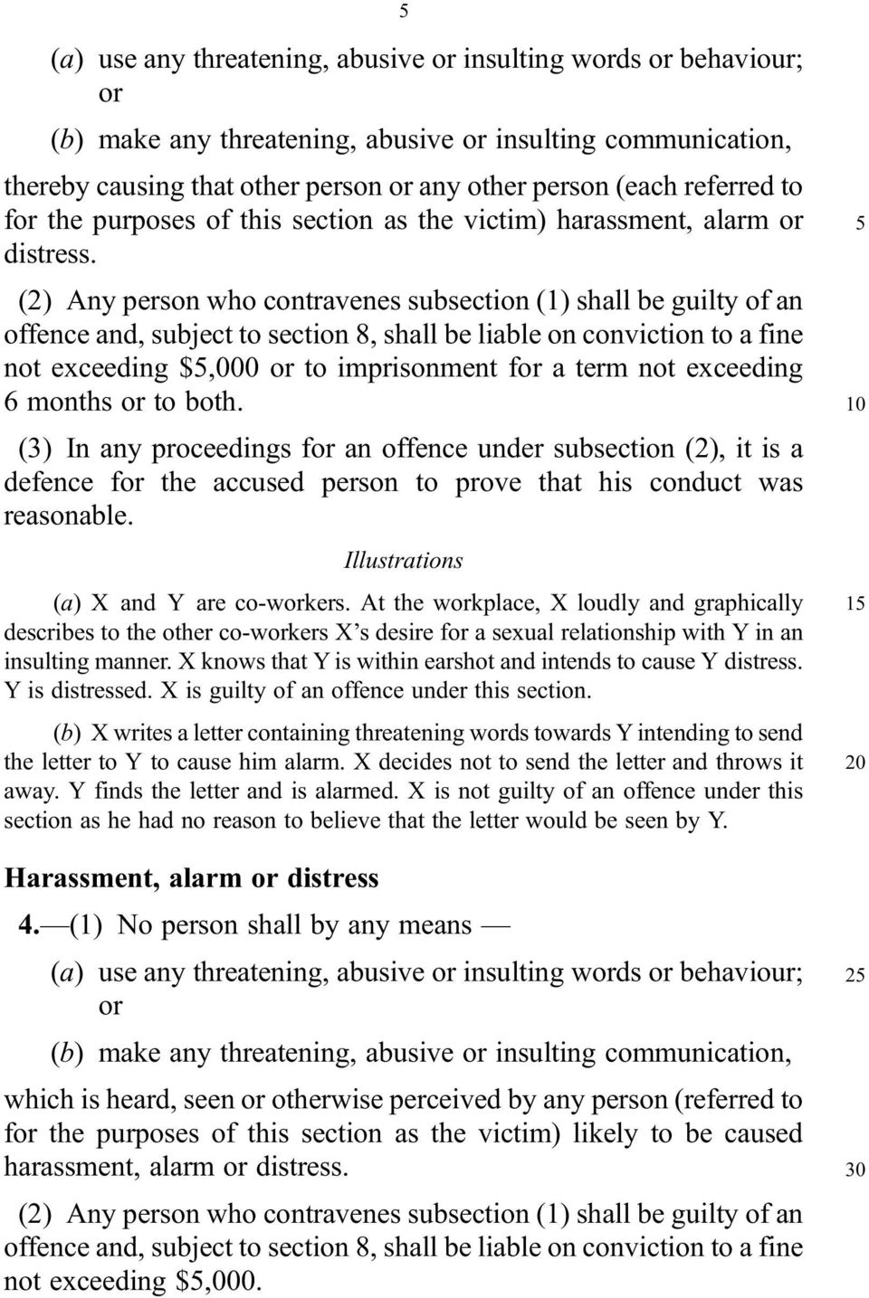 (2) Any person who contravenes subsection (1) shall be guilty of an offence and, subject to section 8, shall be liable on conviction to a fine not exceeding $5,000 or to imprisonment for a term not