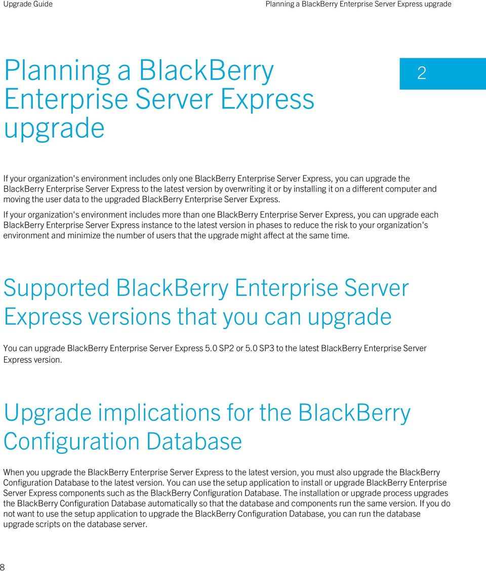 BlackBerry Enterprise Server Express.
