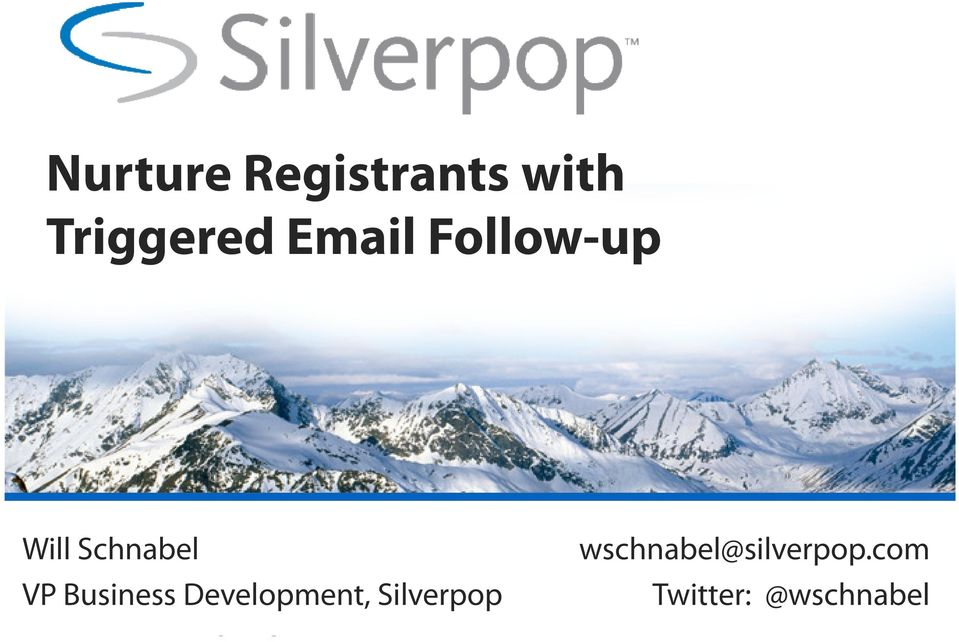 Business Development, Silverpop