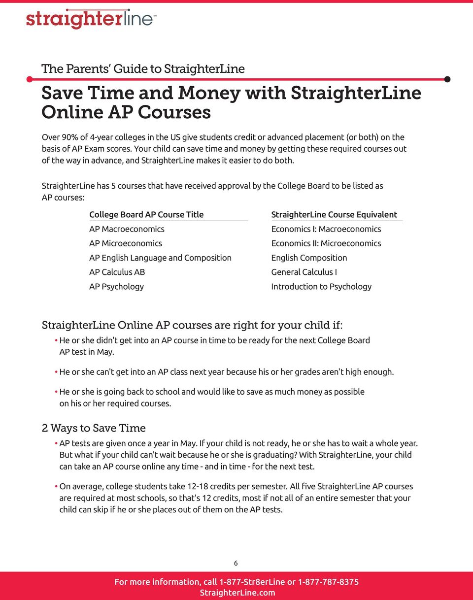 The StraighterLine Guide: The Parents Guide to