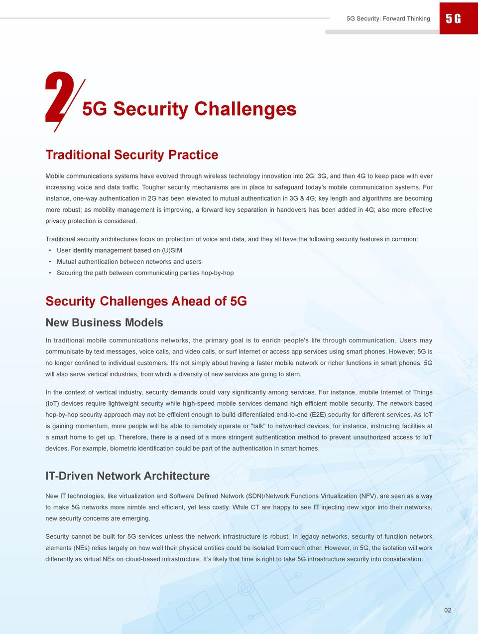 5G Security: Forward Thinking Huawei White Paper - PDF