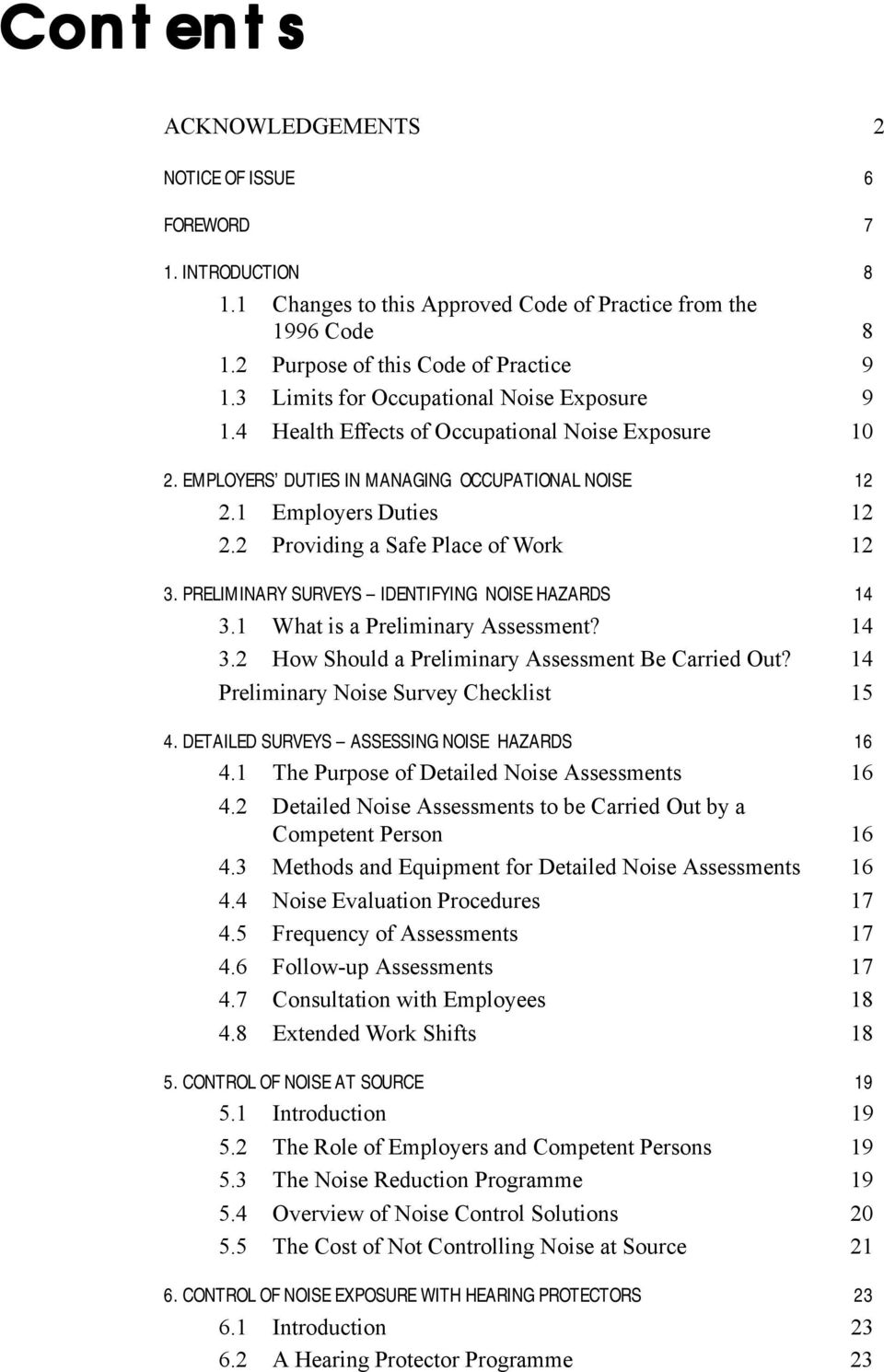 APPROVED CODE OF PRACTICE FOR THE MANAGEMENT OF NOISE IN THE