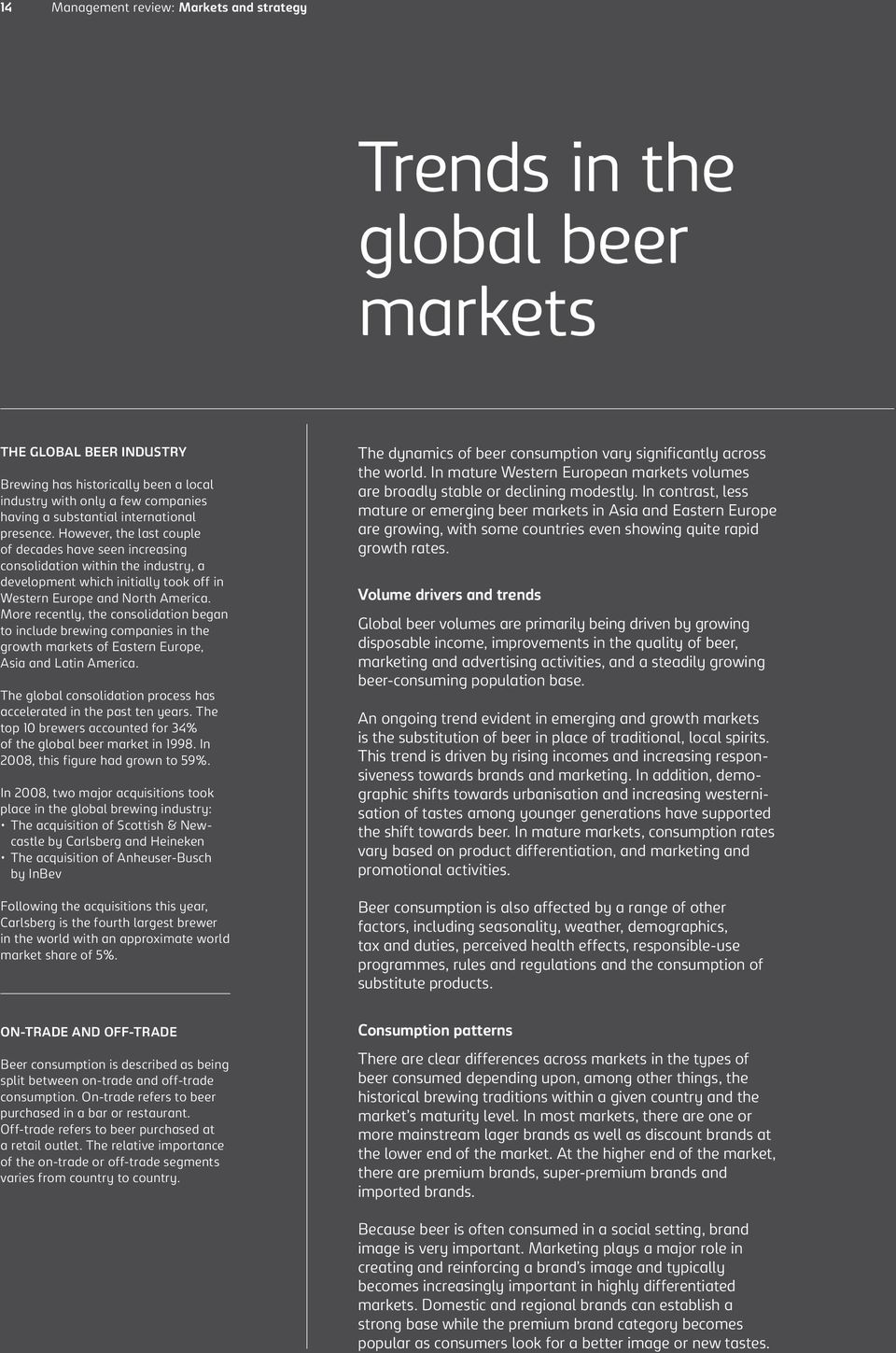 Trends in the global beer markets - PDF