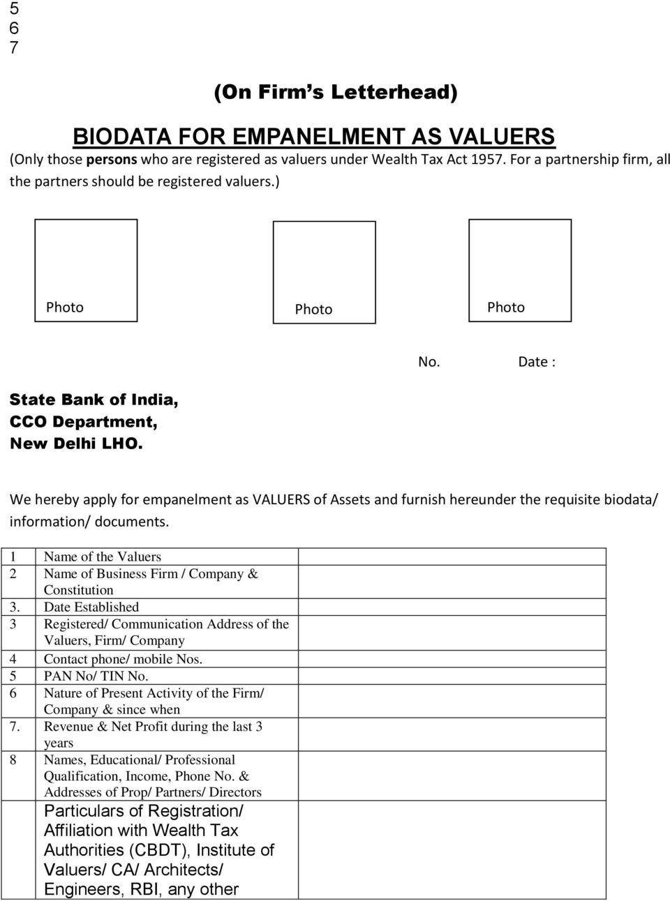 EMPANELMENT OF STOCK AUDITORS / VALUERS GUIDELINES - PDF