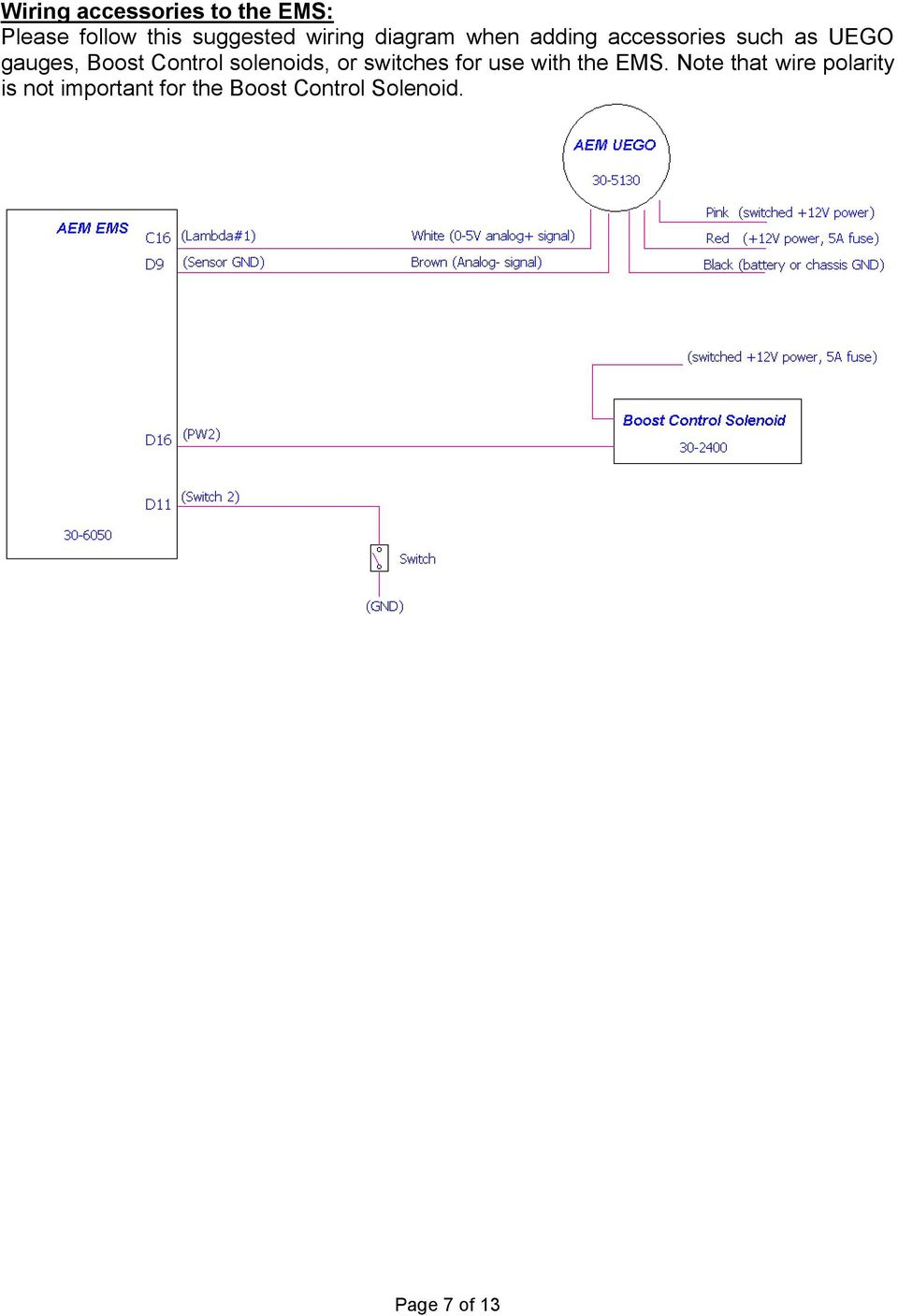 Installation Instructions For Ems P N Acura Integra 23cl Subwooferampwiringdiagram Updated Neon Wiring Diagram My B9 Control Solenoids Or Switches Use With The 8 Connection