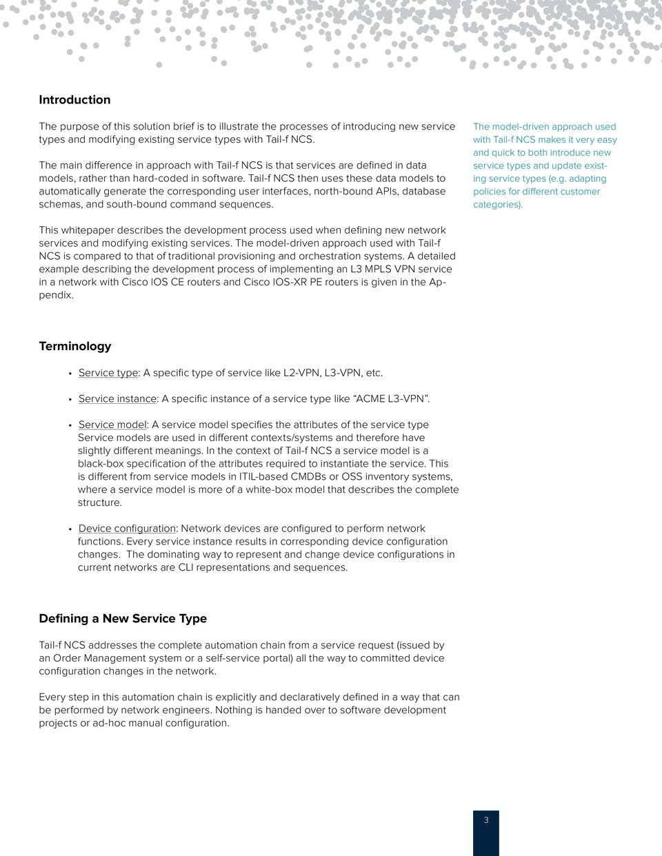 TAIL-F SYSTEMS TECHNOLOGY BRIEF Creating and modifying