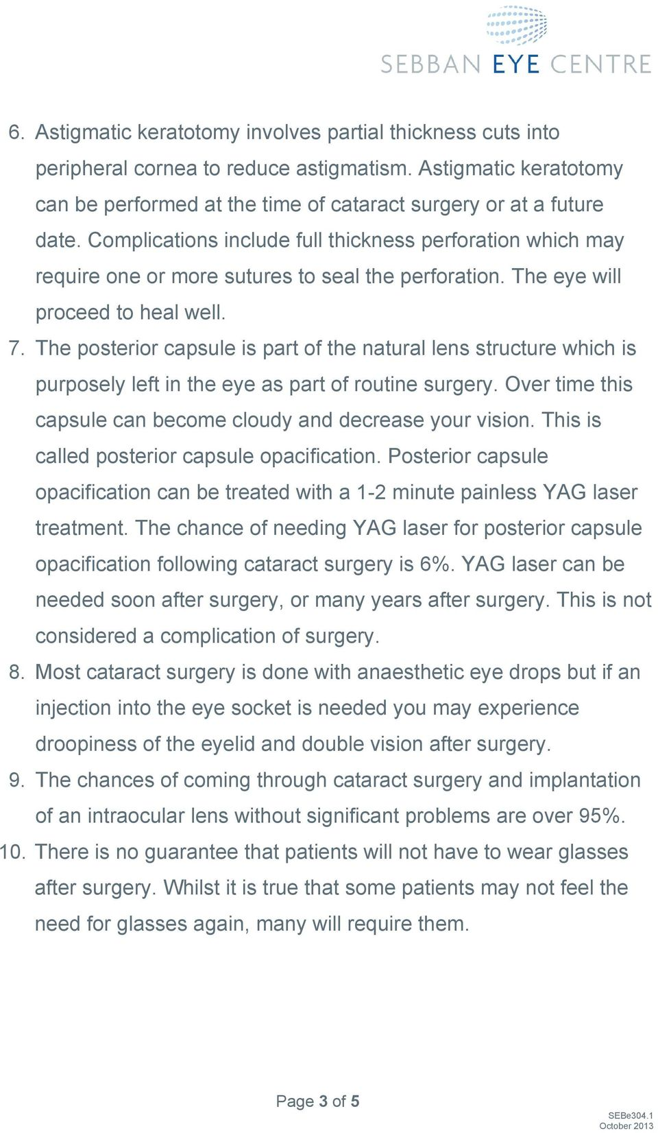 The posterior capsule is part of the natural lens structure which is purposely left in the eye as part of routine surgery. Over time this capsule can become cloudy and decrease your vision.