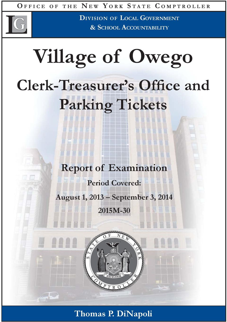 Clerk-Treasurer s Office and Parking Tickets Report of
