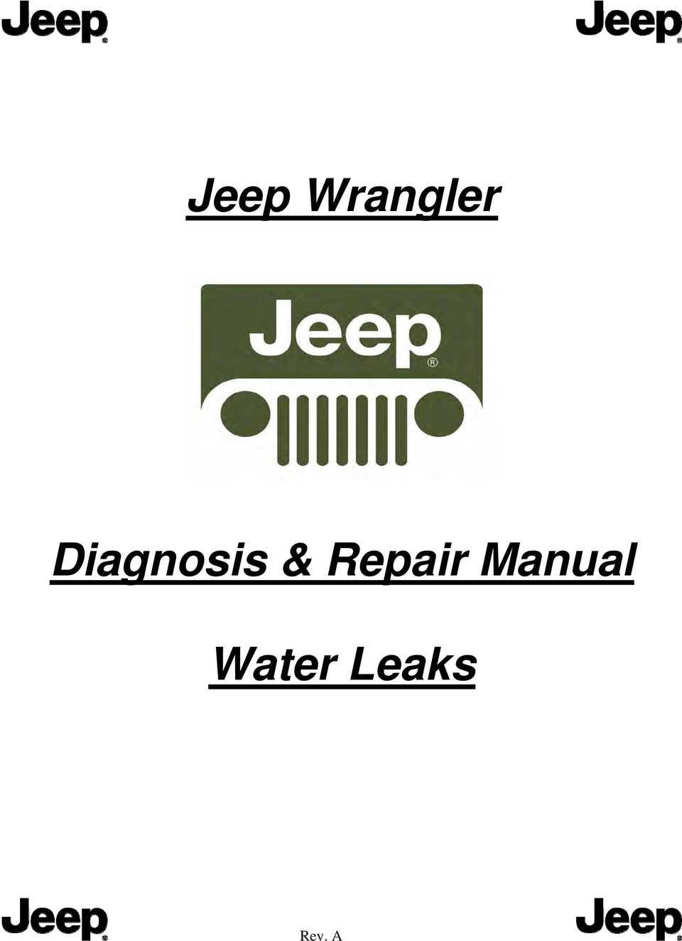 This manual applies to all Jeep models: 2/4 door & Hard/Soft Top 2. Before  testing the vehicle, perform a review of the top system.