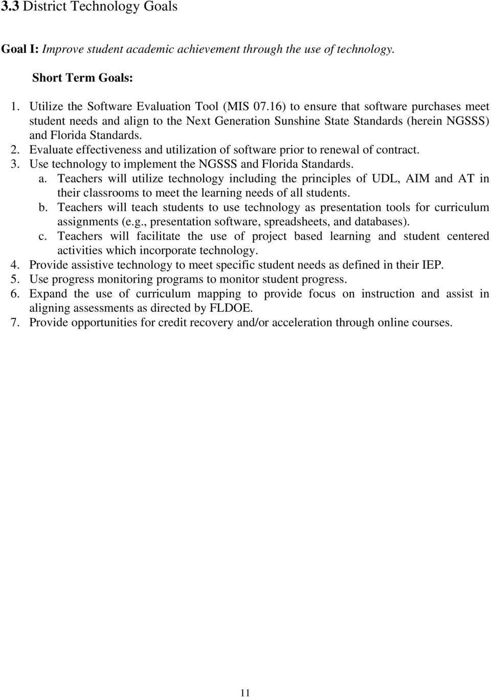 THE SCHOOL BOARD OF HIGHLANDS COUNTY DISTRICT TECHNOLOGY PLAN - PDF