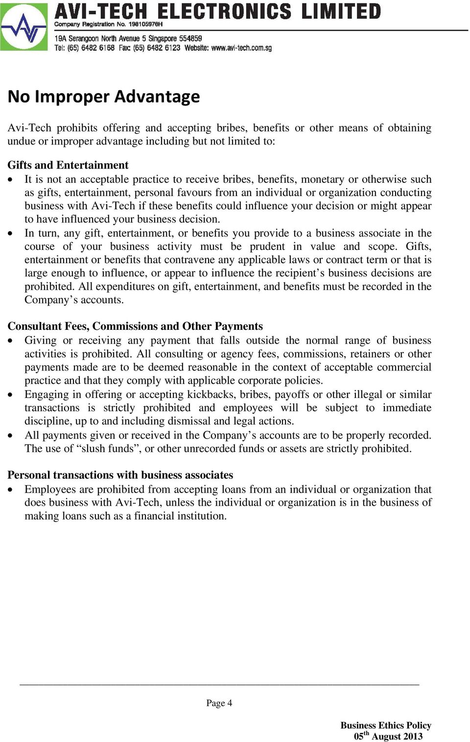scope of business ethics