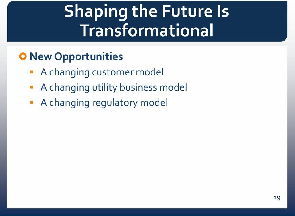 changing customer model A changing