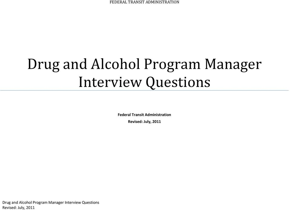 Questions for Program Manager interview