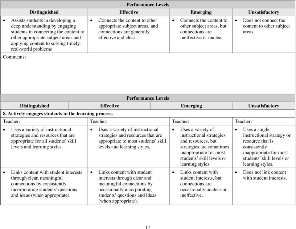 Mississippi Statewide Teacher Appraisal Rubric M Star Pdf