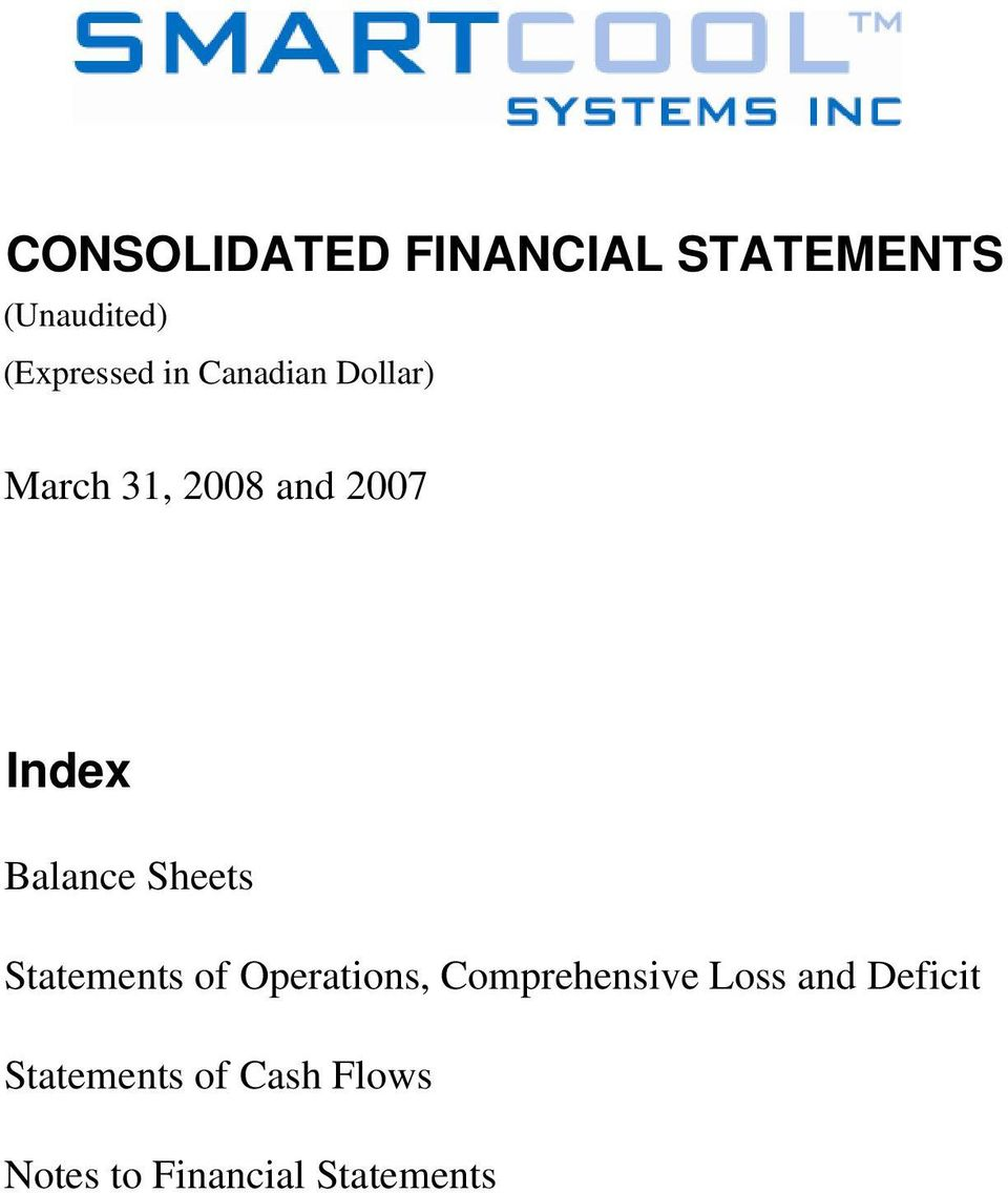 Sheets Statements of Operations, Comprehensive Loss