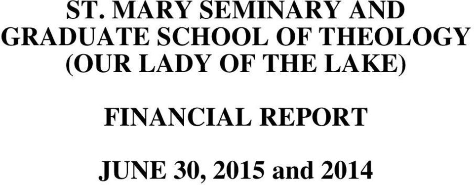THEOLOGY FINANCIAL