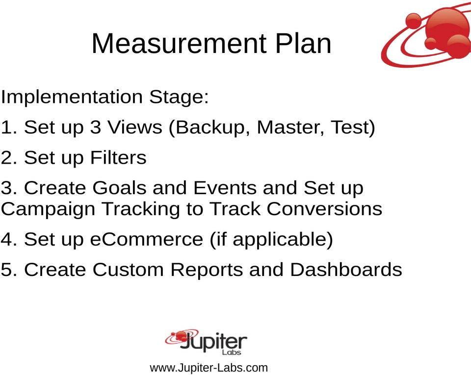 Create Goals and Events and Set up Campaign Tracking to Track
