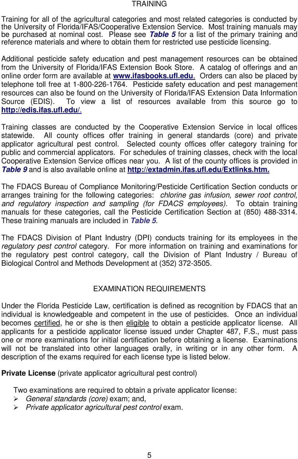 PESTICIDE APPLICATOR CERTIFICATION AND LICENSING IN FLORIDA - PDF