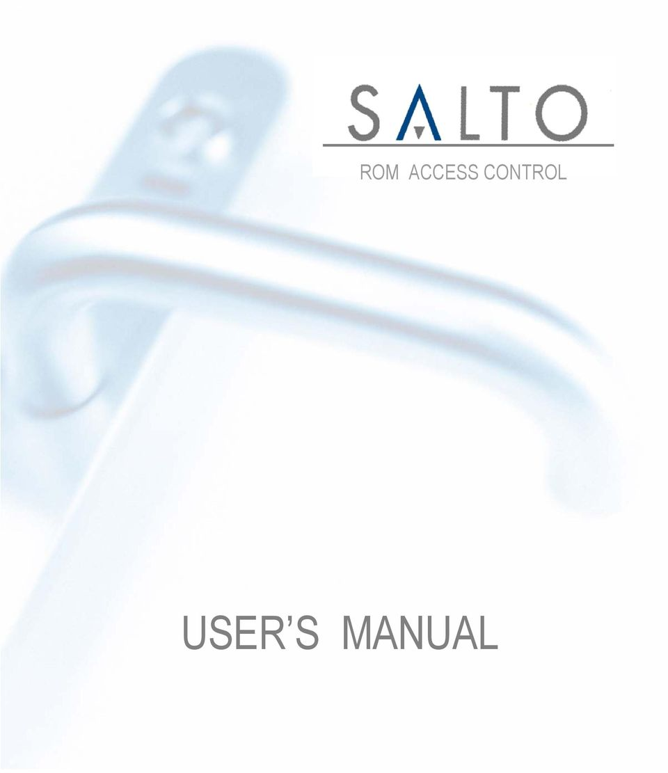 ROM ACCESS CONTROL USER S MANUAL - PDF