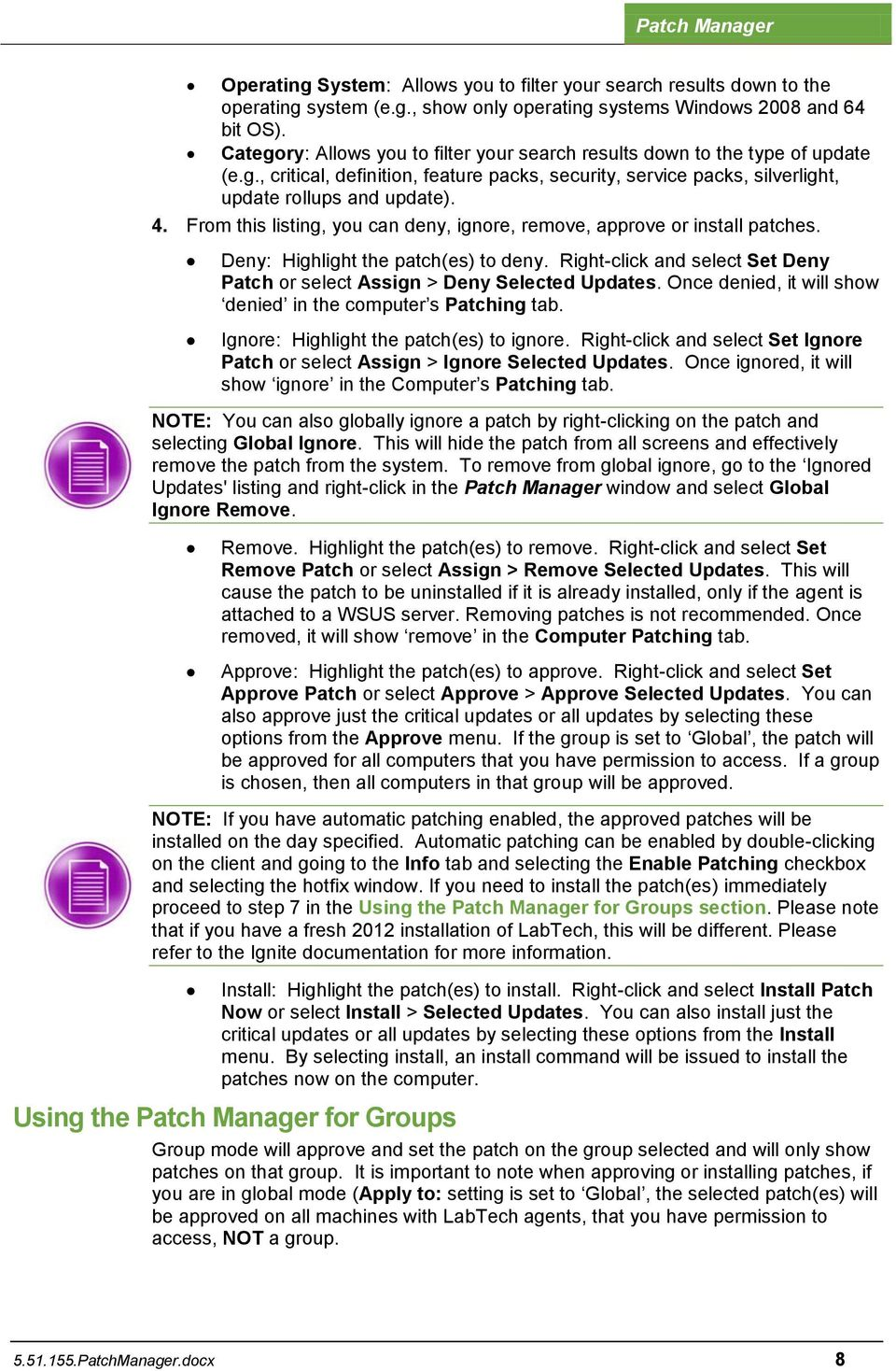 Patch Manager  Overview  LabTech - PDF