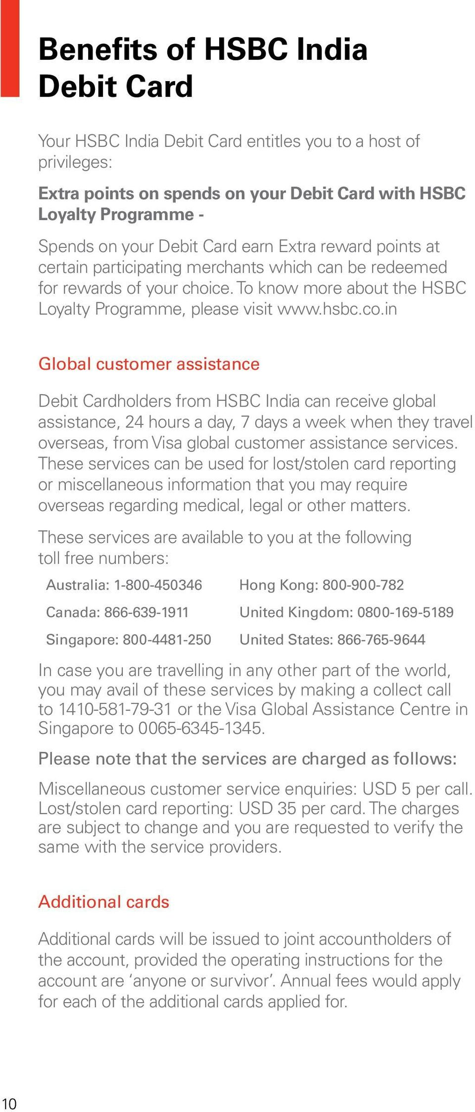HSBC India Debit Card for Personal Banking and Basic Savings Bank
