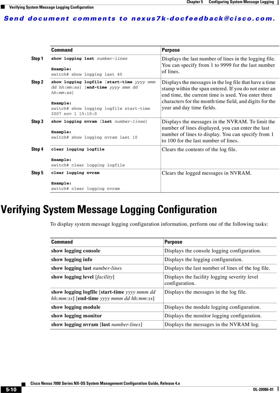 Configuring System Message Logging - PDF